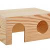 Домик с плоской крышей для грызунов, фанера, 20х15х10 см