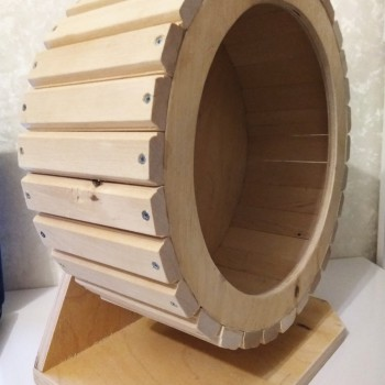 Беговое колесо 30 см на подставке береза